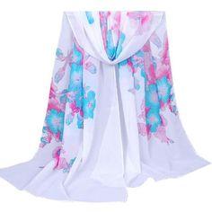 Fashion Morning Glory Women Scarf - Soft Wool Cashmere Long Shawl