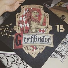 "This cap that shows off house pride. | Community Post: 12 ""Harry Potter"" Graduation Caps Every Potterhead Will Love"