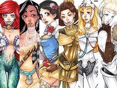 Disney's Snow White, Ariel, and Others get Reimagined as BADASS Warrior Princesses   moviepilot.com