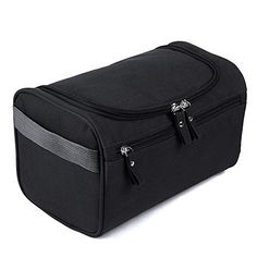 Toiletry Bag ESARORA Hanging Toiletry Bag Organizer For Men or Women Waterproof  Travel Size with Hanging Hook for vacation Black >>> To view further for this item, visit the image link.