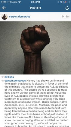 So well said, just so sad it still HAS to be said. @carson.demarcus on Instagram