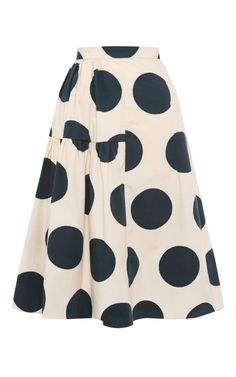 Shop Poplin Ink Dot Pleated Skirt by Marni - Moda Operandi