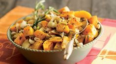 This sweet-savory side dish is a cinch to pull together, especially when you rely on already peeled and cut-up butternut squash from the store. Fresh thyme, marjoram or sage are equally delicious substitutes for the rosemary.