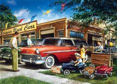 Masterpieces Dan Hatala Bargain Used Cars Jigsaw Puzzle - 1000 pc
