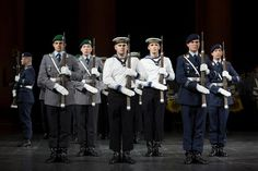 The drill team of the German Federal Military Guards Batallion (Bundeswehr Wachbatallion) performing at the 2012 Berlin International Military Tattoo.