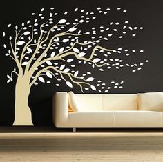 This removable Blowing Tree is available either blowing right or left and in over 40 colors!  Bring nature to any room with this amazing wall decal.  Great quality, low price and fast shipping!