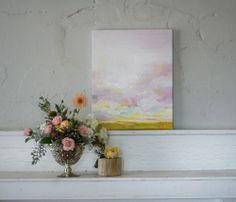 """Prettier in Pink"" Original Oil Landscape Painting"