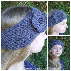 Easy Crochet Headband - Free pattern from FitzBIrch Crafts