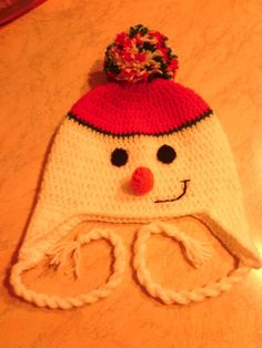 Crochet pupazzo di neve