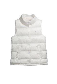 Down Vest // White  www.g1goods.com