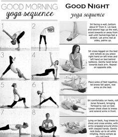 Good morning/good night yoga sequences