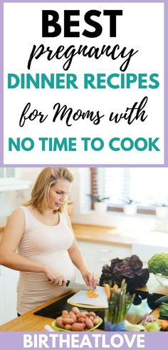Pregnant and no time to cook? Need meal ideas to feed your whole family? This list of dinner recipes includes healthy and easy recipes perfect for busy Moms who need extra nutrients to grow a baby. - Pregnacy and moms Healthy Pregnancy Food, Pregnancy Nutrition, Pregnancy Health, Pregnancy Tips, Baby Food Recipes, Dinner Recipes, Easy Recipes, Pregnancy Dinner, Pregnancy Information