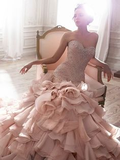 Maggie Sottero - Sweetheart A-Line Gown in Tulle, I wonder how it'd look in white