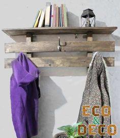 Perchero - Repisa En Madera De Pallet- Eco & Deco Muebles (Percheros) a ARS 300 en PrecioLandia Argentina (7tuppl)