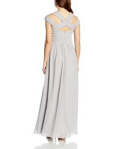 Little Mistress Damen Kleid Grey Crossover Empire Maxi Dress: Amazon.de: Bekleidung