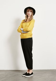 Classic V Jumper - Canary   Daywear from Hush