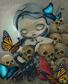 Gothic Fairy Art - Butterflies and Bones by Jasmine Becket-Griffith