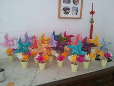 ... moulin a vent et fleur en papier fleur faite en papier crépon More