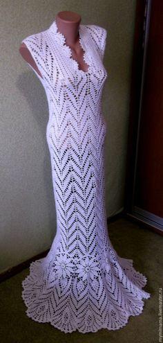Купить или заказать ажурное платье, вязанное крючком в интернет магазине на Ярмарке Мастеров. С доставкой по России и СНГ. Срок изготовления: 3 недели. Материалы: хлопок 100%, хлопок с вискозой, хлопок…. Размер: любой