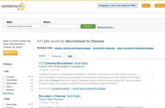 500+ Recruitments and Jobs are waiting for right candidates in Chennai... Apply Now http://www.careesma.in/jobs?q=recruitment+jobs+in+chennai