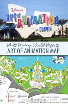 Disney's Art of Animation Resort is one of five value resorts at Walt Disney World. Explore Art of Animation Map before you head on your vacation! Disney World Map, Disney World Rides, Disney World Vacation Planning, Disney World Florida, Disney Planning, Disney Art Of Animation, Art Disney, Disney Animation Resort, Disney Value Resorts