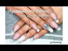 Aquarium nail tutorial + acrylic french glitter (vidéo)   Ethnie beauty