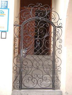Ornate Gate in Poland Wrought Iron Decor, Wrought Iron Gates, Gate Design, Door Design, Iron Garden Gates, Iron Front Door, Metal Gates, Iron Furniture, Iron Work