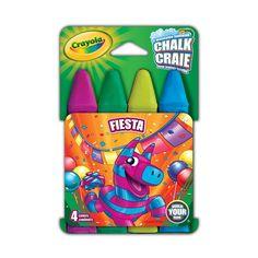 Toda criança gosta muito de expressar sua criatividade desenhando e pintando. Com o Giz de Calçada  Lavável Crayola, as crianças terão em mãos um produto de altíssima qualidade, e poderão expressar a sua arte na rua e na calçada de casa, sempre com segurança.   Por serem laváveis, são removidos facilmente após a brincadeira.  Com eles, as crianças  vão poder colorir  e desenhar com muita alegria e diversão. A embalagem contém 4 unidades diversas.