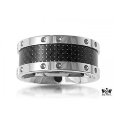 Most of the mens jewelry is made of silver or steel-colored metals.