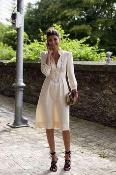 Amazing dress and shoes. #white #dress #style #fashion #black #heels #stilettos