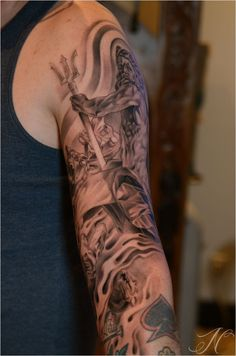 Greek Mythology Tattoo Poseidon