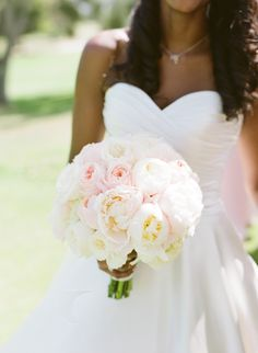 Blush garden roses | Photography: Michael & Anna Costa Photography ~ Anna Costa - michaelandannacosta.com  Read More: http://www.stylemepretty.com/california-weddings/2015/06/18/elegant-pink-filled-montecito-country-club-wedding/