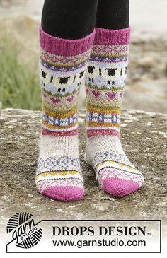 Sleepy Sheep by DROPS Design – the coolest socks of the year! Free Sleepy Sheep by DROPS Design – the coolest socks of the year! Drops Design, Knitting Patterns Free, Free Knitting, Baby Knitting, Free Pattern, Finger Knitting, Scarf Patterns, Crochet Patterns, Crochet Socks