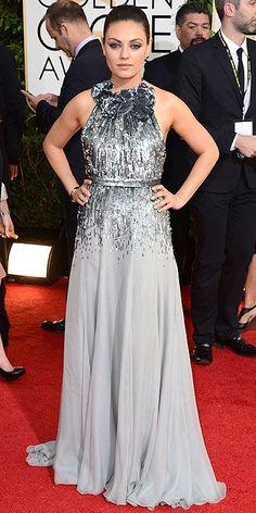 Mila Kunis - Golden Globes 2014: Arrivals : People.com
