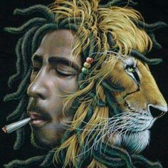 Bob Marley/Lion psychedelic