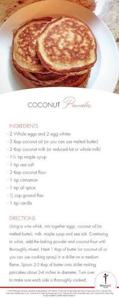 Bethenny Frankel's coconut pancakes