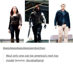 It's so obvious... Bucky's gonna win. Have you seen that smile? Plus the damaged backstory? Yup. Gonna win.