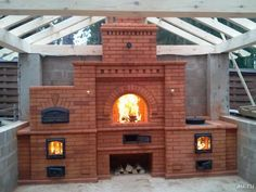 An outdoor kitchen can be an addition to your home and backyard that can completely change your style of living and entertaining. Fireplace Kits, Backyard Fireplace, Fireplace Design, Backyard Kitchen, Summer Kitchen, Outdoor Kitchen Design, Pizza Oven Outdoor, Outdoor Cooking, Barbecue Garden