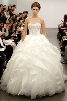 Best Wedding Dresses From Bridal Market Fall 2013.  Vera Wang gown.