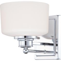 Soho 1 Light Vanity Fixture with Satin White Glass
