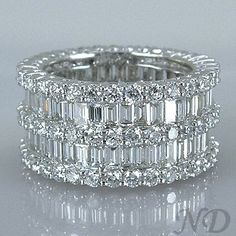 Wedding Bands :: 6.47 ct. Eternity Baguette Diamonds Wedding Band