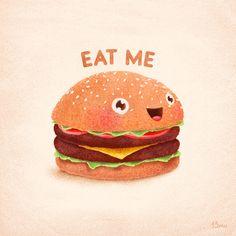 Burger Art Print