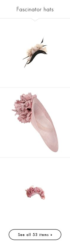 """""""Fascinator hats"""" by imperialfamilyfans ❤ liked on Polyvore featuring hats, fascinators, accessories, fascinator, fascinator hats, hair fascinators, floral hats, floral print hat, formal hats and navy fascinator hat"""
