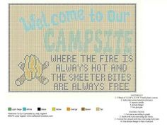 Welcome to our campsite wall hanging Plastic Canvas Coasters, Plastic Canvas Crafts, Plastic Canvas Patterns, Canvas 5, Canvas Signs, Canvas Ideas, Christmas Wall Hangings, Camping Signs, Plastic Canvas Christmas