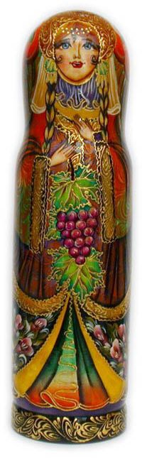 MATRYOSHKA [wine] BOTTLE HOLDER ~ this site has a variety of hand painted, wooden matryoshka doll bottle holders that are absolutely gorgeous Wine Bottle Holders, Wine Bottle Crafts, Bottle Painting, Bottle Art, Matryoshka Doll, Red Fashion, Patch, Wonderful Things, Painting On Wood