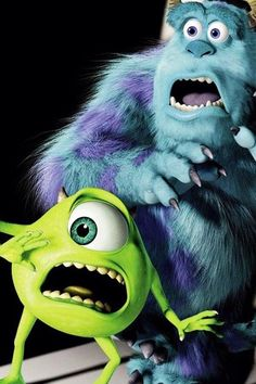 Wallpaper Disney - Imagem de disney, monsters inc, and wallpaper- Monsters Inc, Disney Monsters, Cartoon Monsters, Disney Pixar, Disney Cartoons, Disney Art, Disney Movies, Disney Background, Disney Phone Wallpaper