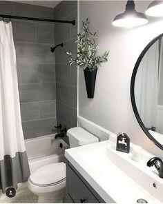 Amazing DIY Bathroom Ideas, Bathroom Decor, Bathroom Remodel and Bathroom Projects to assist inspire your master bathroom dreams and goals. Apartment Bathroom Design, Small Bathroom Interior, Bathroom Design Small, Diy Bathroom Decor, Bathroom Inspo, Bathroom Organization, Simple Bathroom, Basement Bathroom Ideas, Small Bathroom Ideas