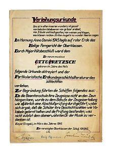a geyer erzgebirge 1945 notarial expresion de gratitud escuela maestro de musica otto pretzsch