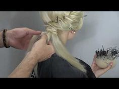 Braiding and twisting techniques! unique hairstyle! Farrukh Shamuratov - YouTube