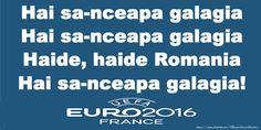 Hai sa-nceapa galagia Hai sa-nceapa galagia Haide, haide Romania Hai sa-nceapa galagia! Romania, Euro